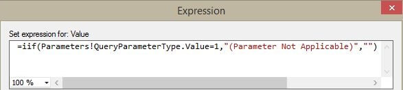 Default value expression for ProductFrom parameter