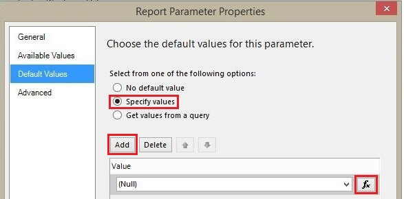 Adding default value for ProductFrom Parameter