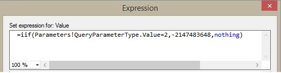 Product parameter default value expression