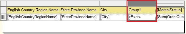 Matrix Group1 Column Selection
