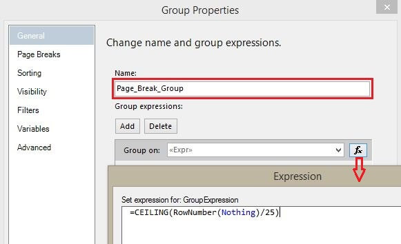 Group Properties - Group Name