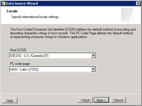 Step 3 of Host File Client Data Source Wizzard.