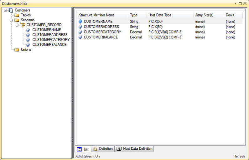 Host File Treeview.