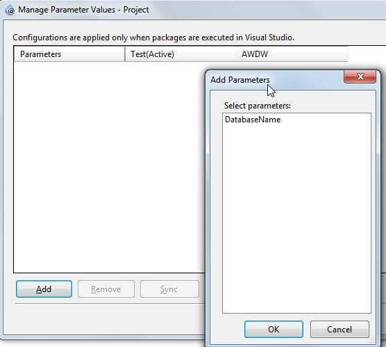 Manage parameter values