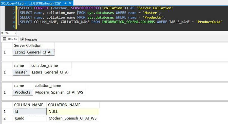 SQL Server Instance Collation
