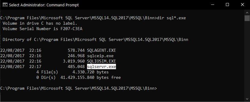 SQL Server Binnn Directory