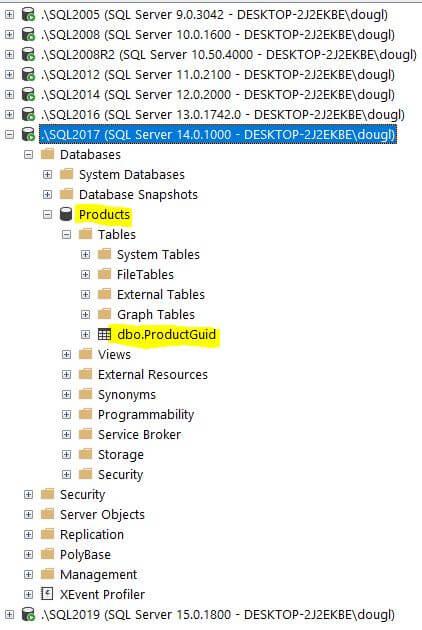 SQL Server Service List