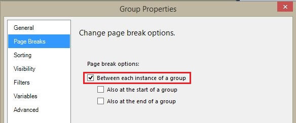 Tablix Dummy Parent Row Group Properties Page Breaks Tab