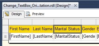 Maritial Status Textbox Selection