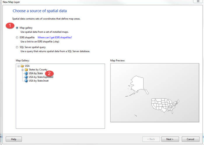 SQL Server Reporting Services Analytical Marker Maps Including - Ssrs us map