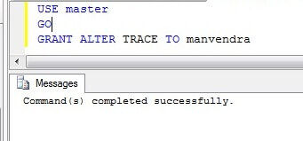 GRANT permission on ALTER trace by T-SQL