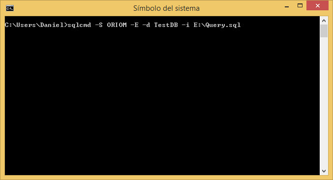 Sqlcmd Command Line.