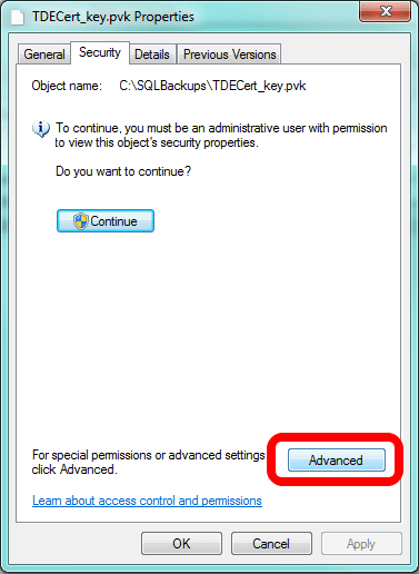 Failed Restore - The Right Certificate, but Without the Private Key