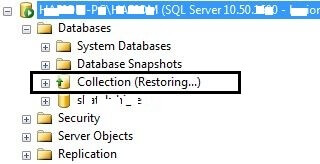 Check LS secondary db mode in SSMS