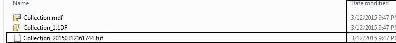 TUF file generated in data folder