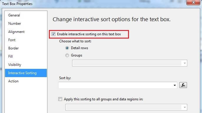 Enable Interactive Sorting Option For YearlyIncome Textbox