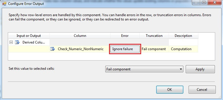 Error Configuration For Newly Added Column