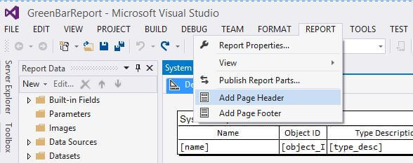 how to add page number to header