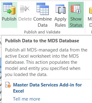 publish data
