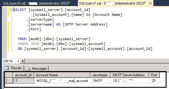 8_check_the_SMTPDetails using T-SQL