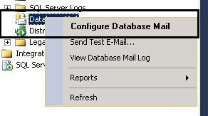 launch DBMail configuration Page