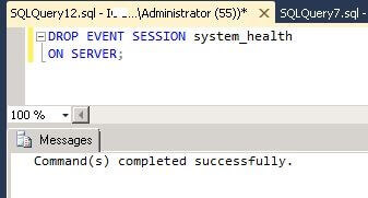 Delete xe system_health