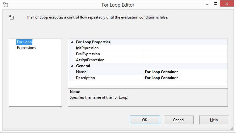 For Loop Container needs configuration