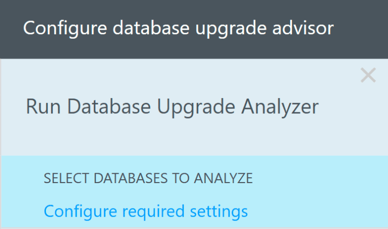 Select Databases to Analyze