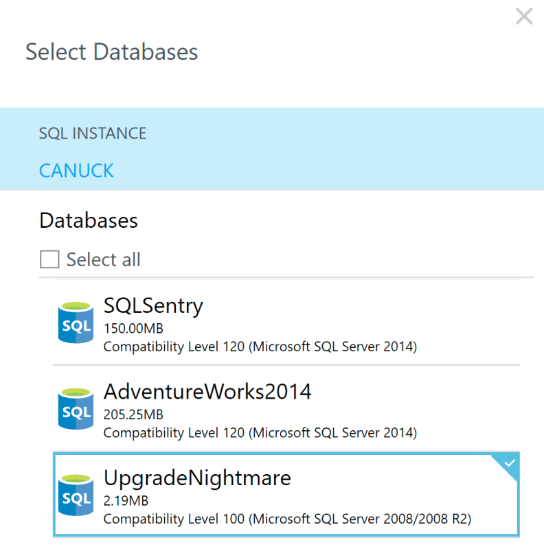 Select Databases