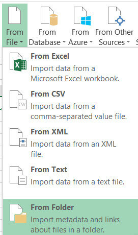 Retrieve file sizes from the file system using Power Query