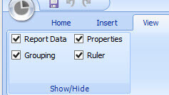 View ribbon in Report Builder