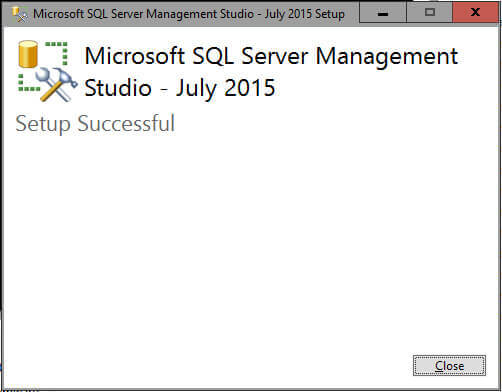 SSMS Successfully Installed!.