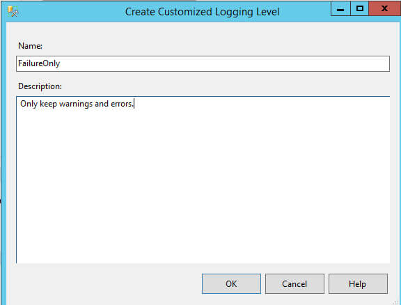 Create a new Customized Logging Level