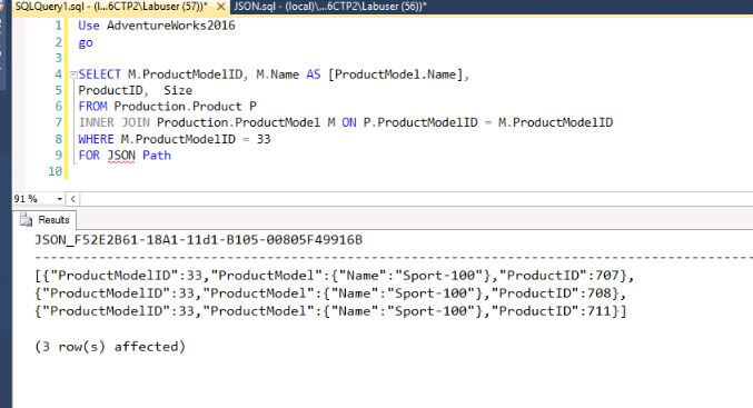 SQL Server Query with JSON output which does not include NULL values