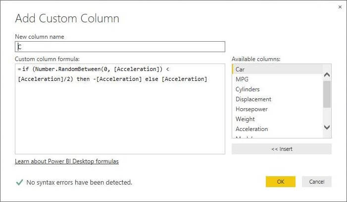 Custom Column with IF THEN ELSE logic in Power BI Desktop Edition