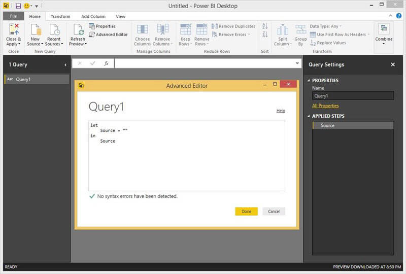 Advanced Query Editor in Power BI Desktop