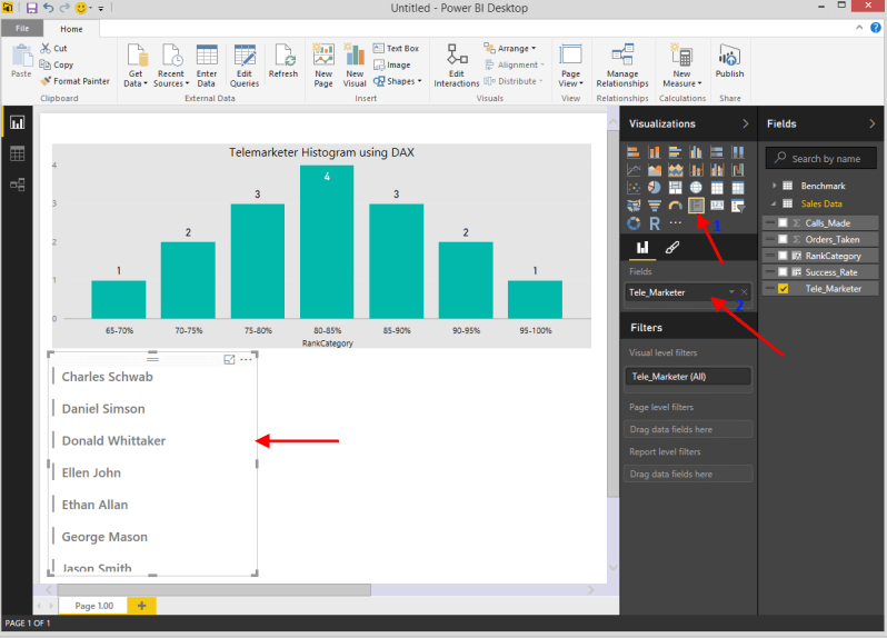 Create Bell Curve and Histogram with Power BI Desktop using DAX