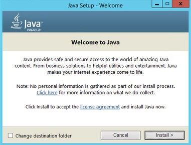 Installing and Configuring the Java Runtime Environment