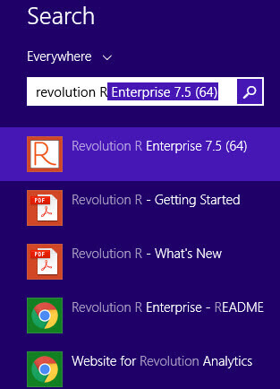 Revolution R Enterprise software