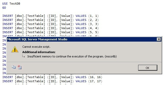 T-SQL script