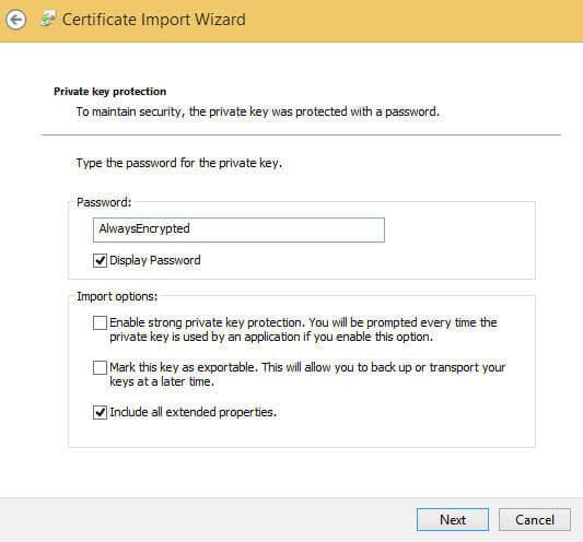 certificate encrypted reading always data integration sql server leave services