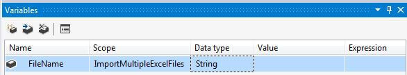 Create SSIS Variable