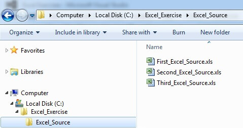 Excel Source Folder