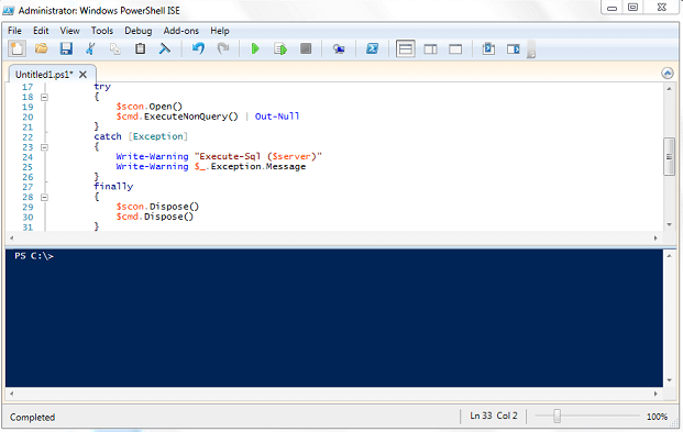 Run PowerShell Scripts with PowerShell ISE