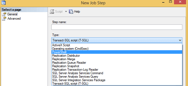 SQL Server Agent Job Step for PowerShell