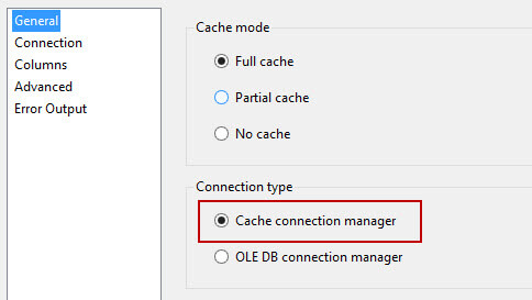 Lookup with cache connection