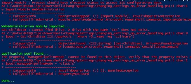 SQL Server Agent Error Logging for Powershell Job Steps