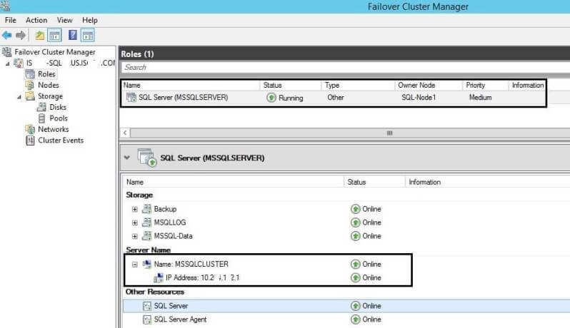 Review the Installation in the Failover Cluster Manager