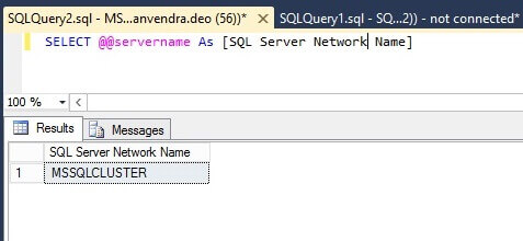 Check SQL Server network name