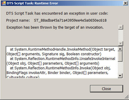 Getting started with the SSIS Script Task